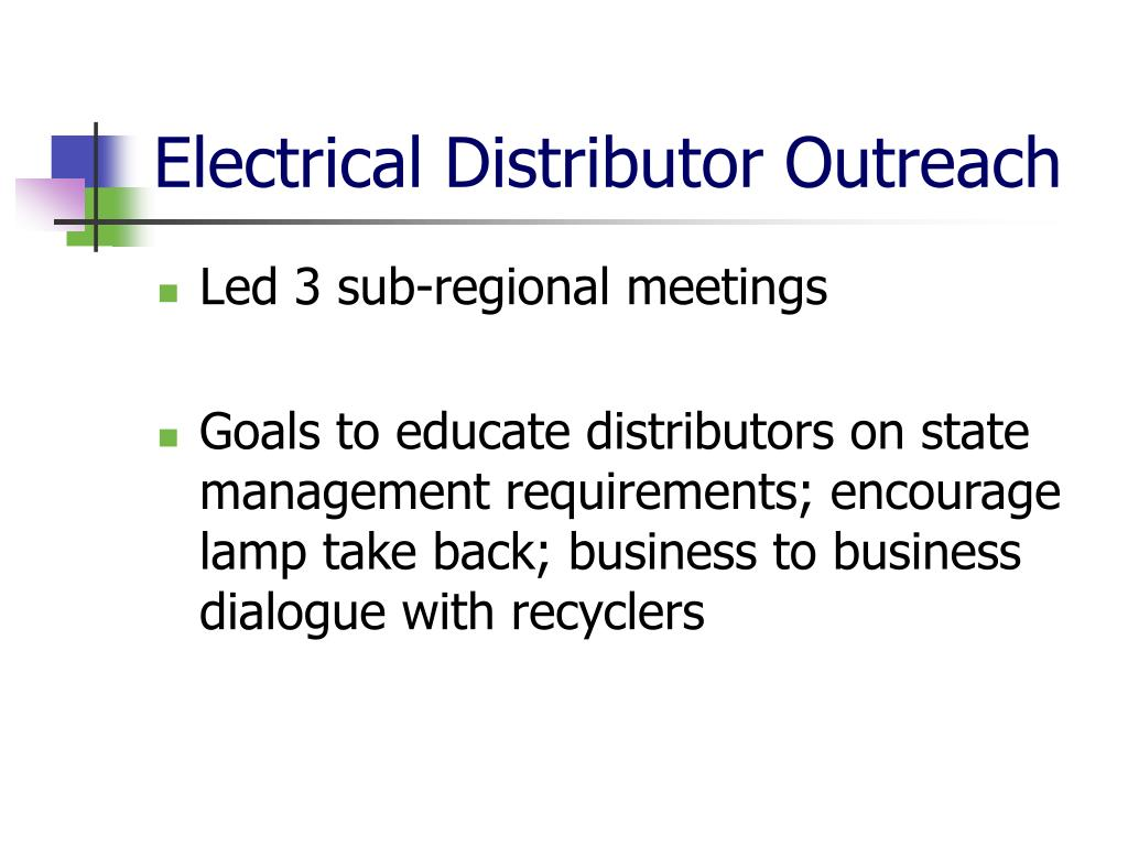 Electrical Distributor Outreach