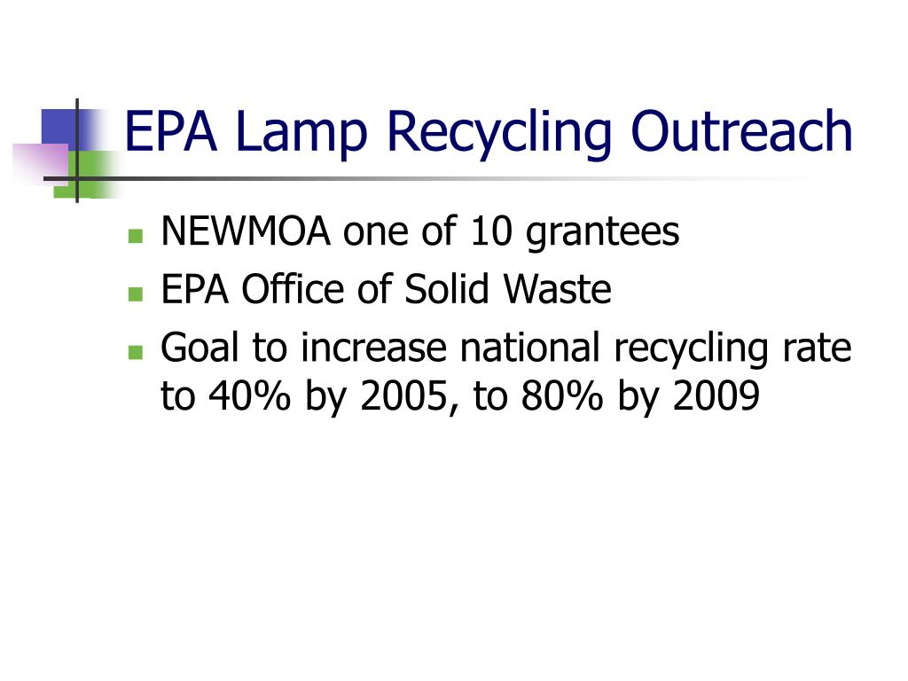 EPA Lamp Recycling Outreach
