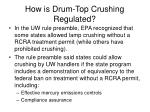 how is drum top crushing regulated41