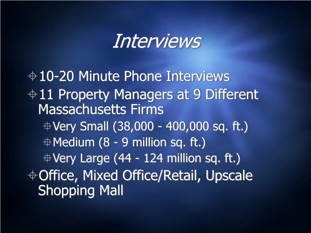 Interviews