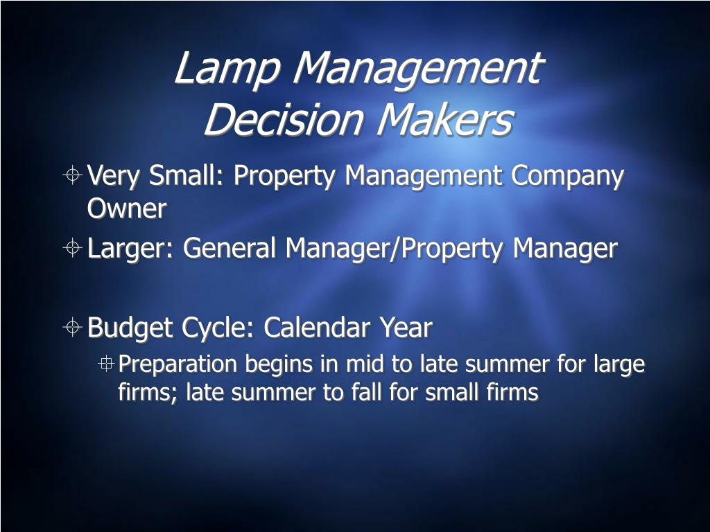 Lamp Management