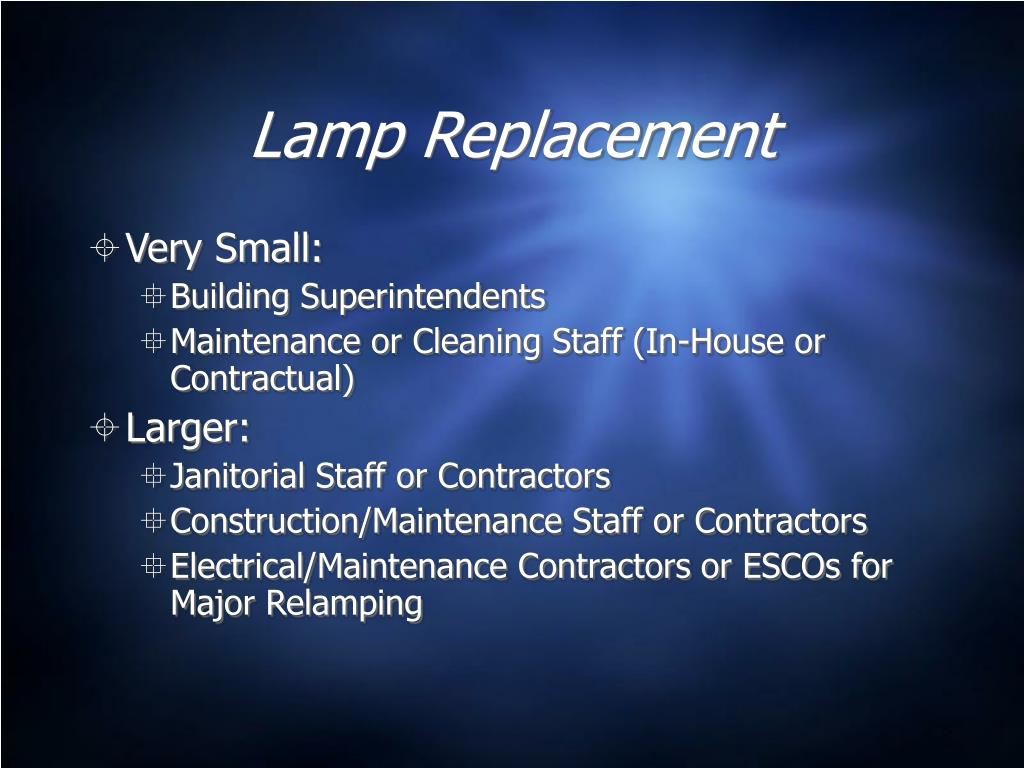 Lamp Replacement