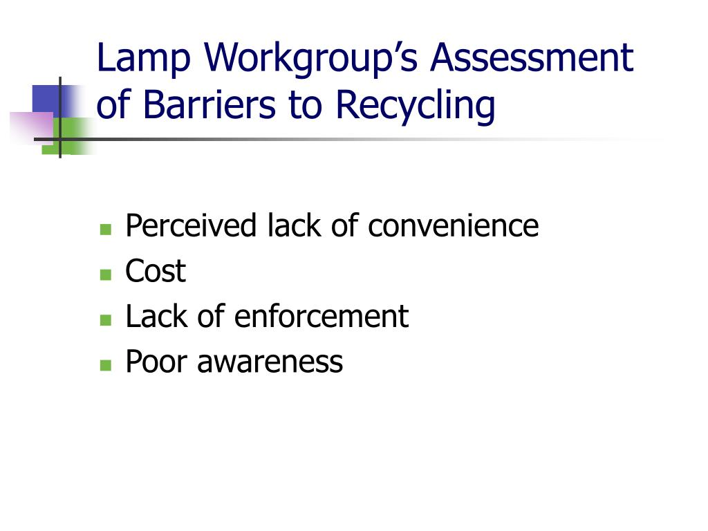 Lamp Workgroup's Assessment