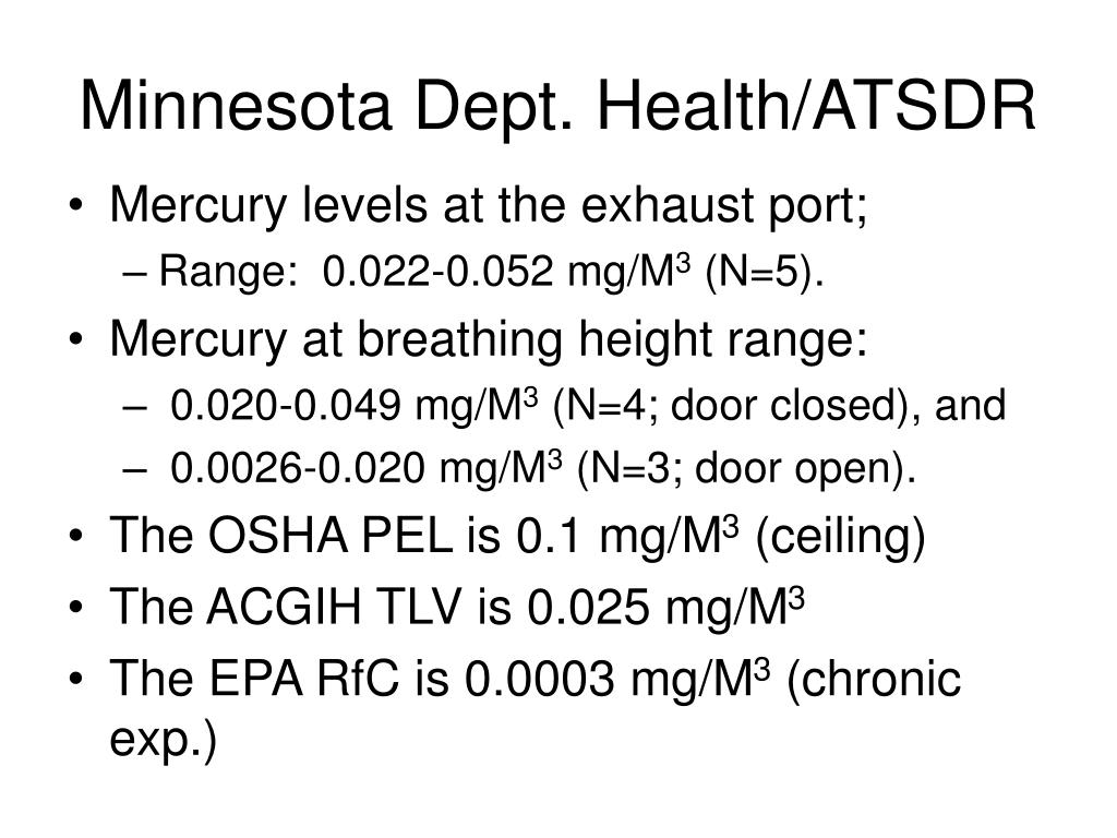 Minnesota Dept. Health/ATSDR