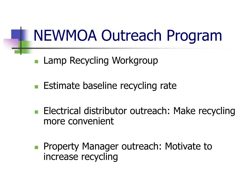 NEWMOA Outreach Program