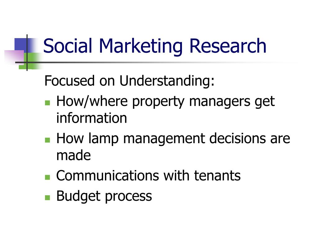 Social Marketing Research
