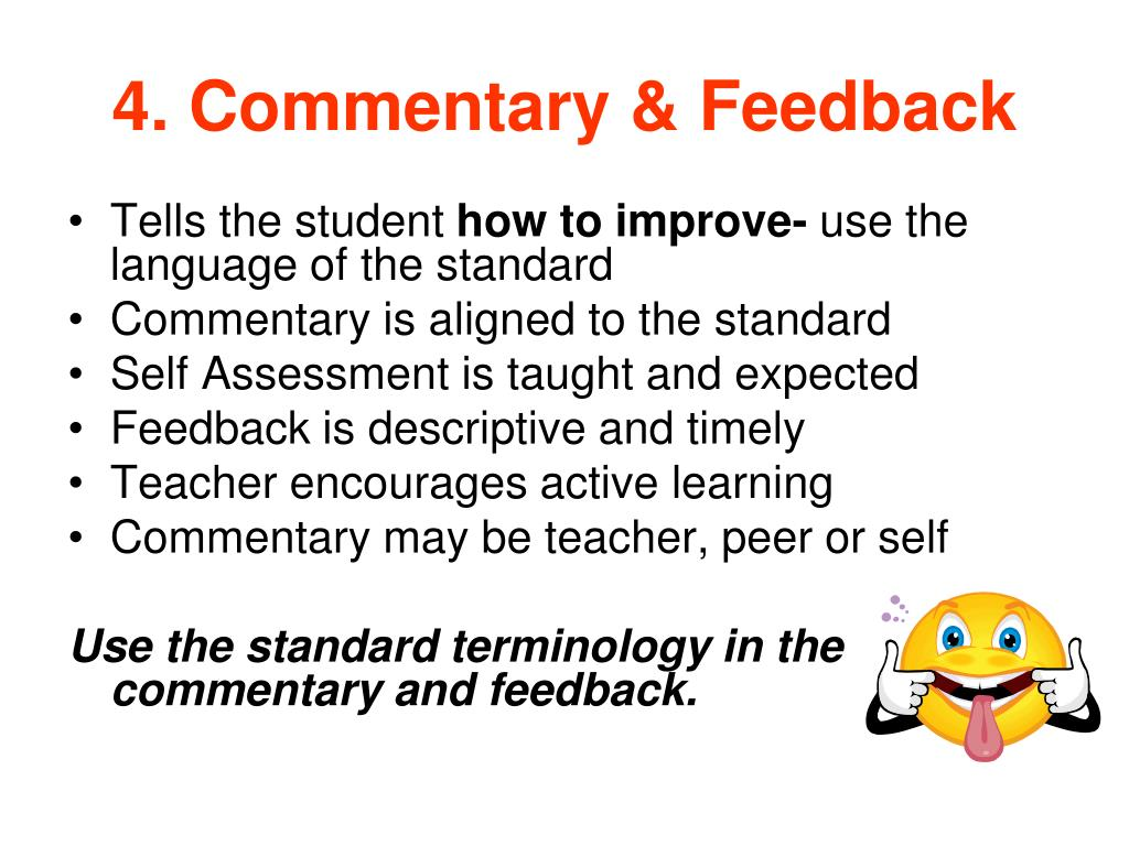 4. Commentary & Feedback