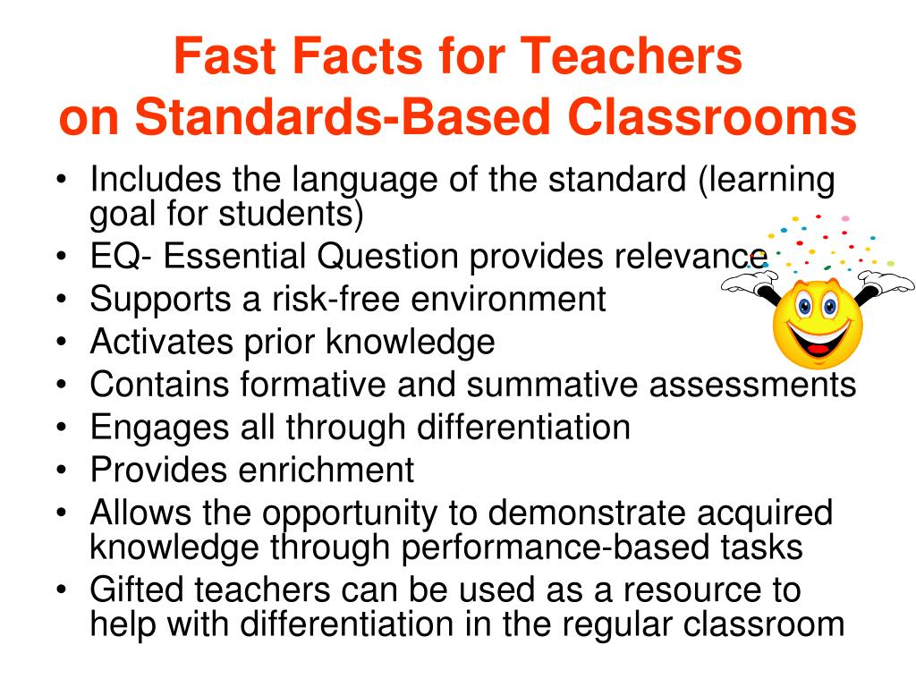 Fast Facts for Teachers