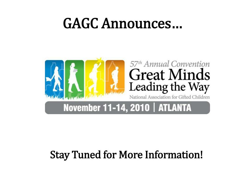 GAGC Announces…