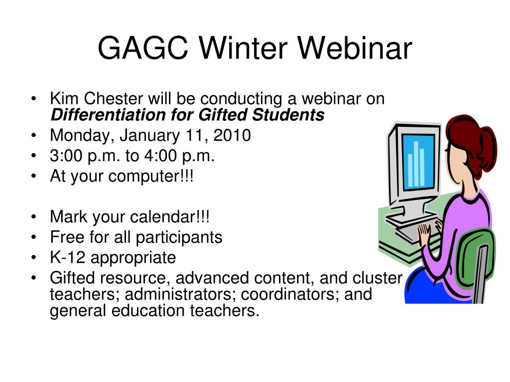 GAGC Winter Webinar