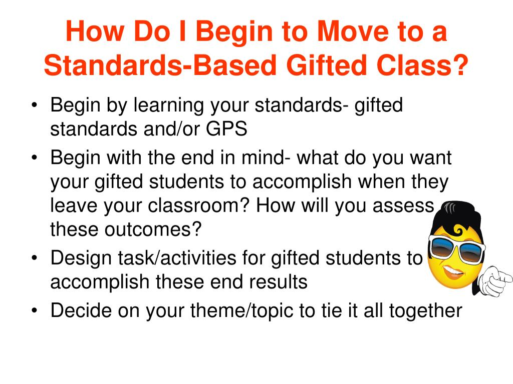 How Do I Begin to Move to a Standards-Based Gifted Class?