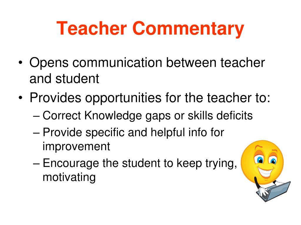 Teacher Commentary