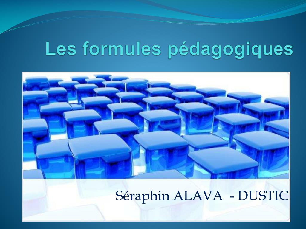 les formules p dagogiques