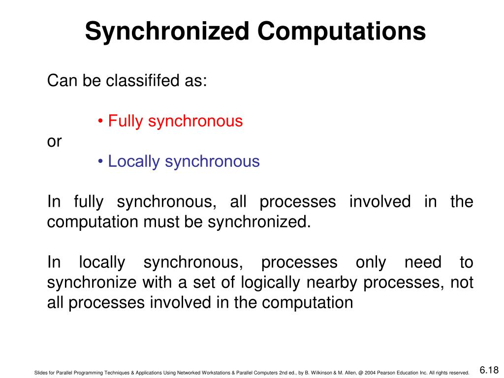 Synchronized Computations