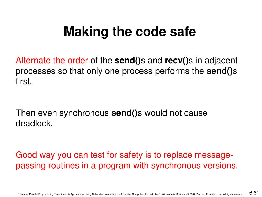 Making the code safe