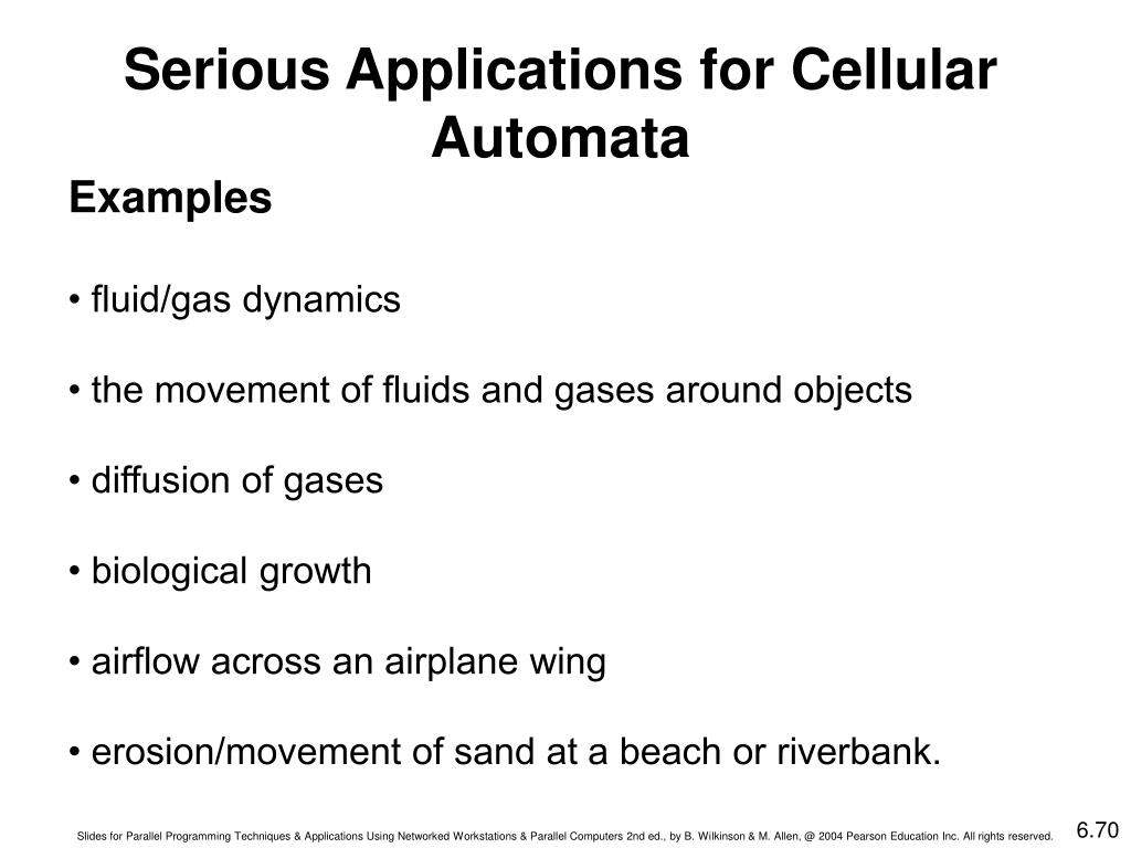 Serious Applications for Cellular Automata