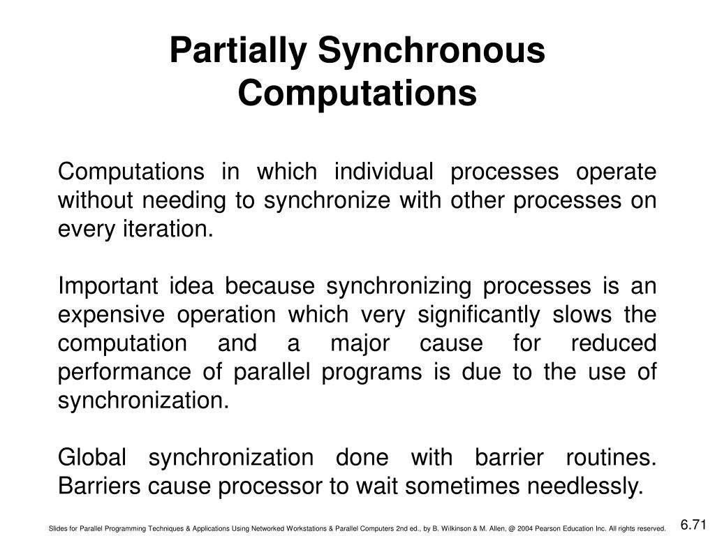 Partially Synchronous Computations