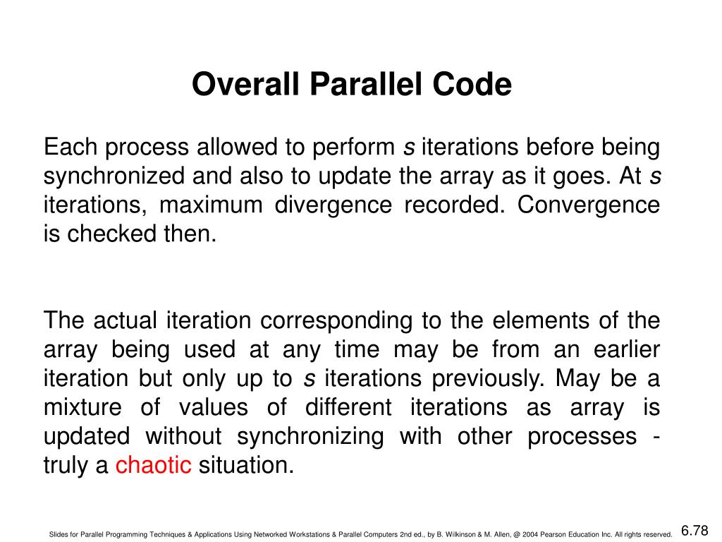 Overall Parallel Code