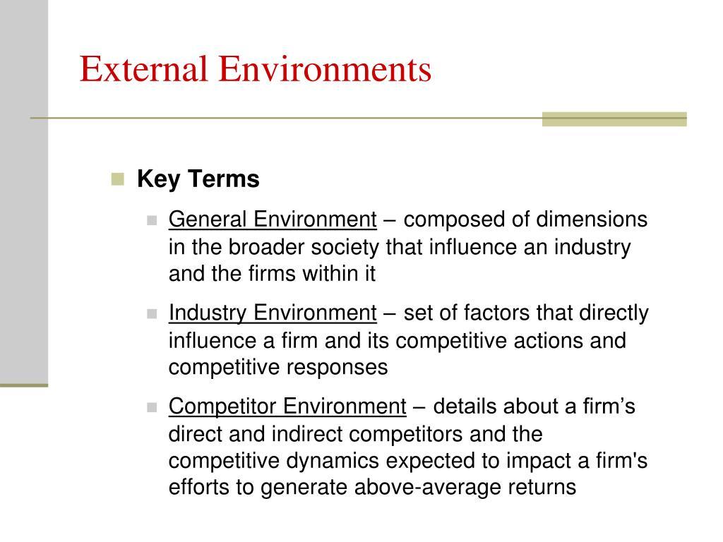 External Environments
