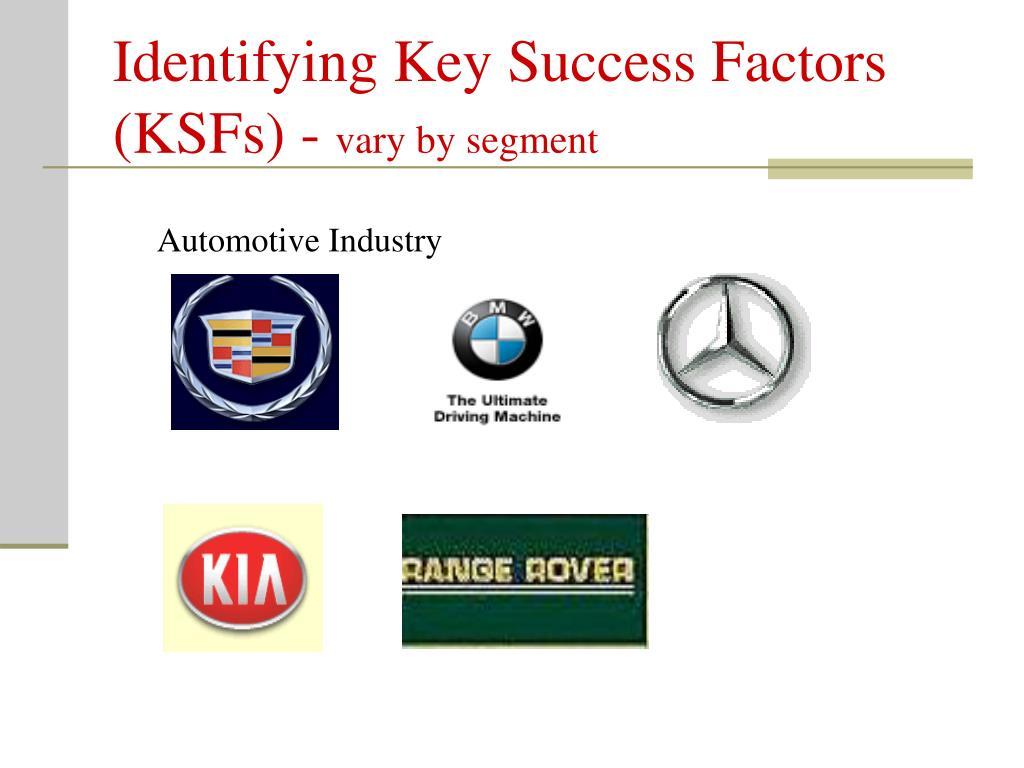 Identifying Key Success Factors (KSFs) -