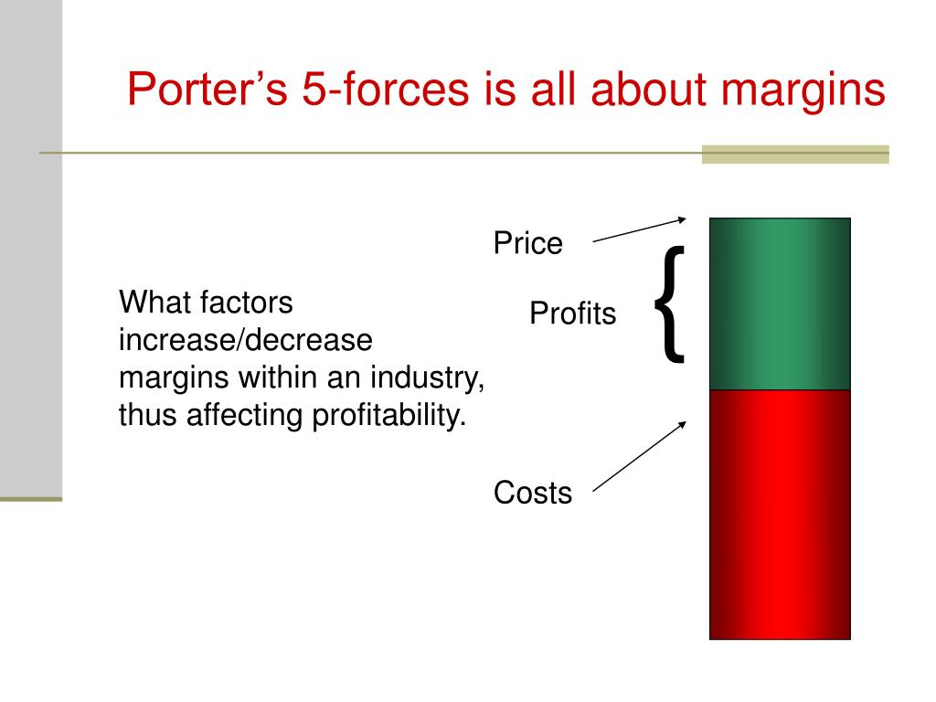 Porter's 5-forces is all about margins