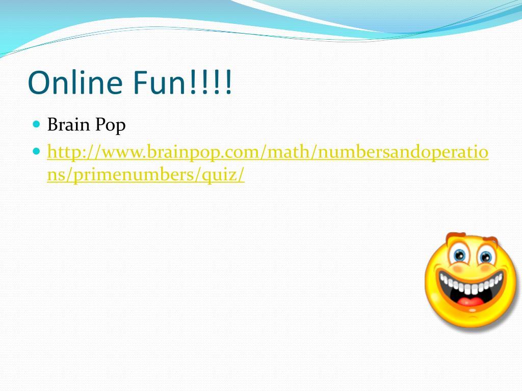 Online Fun!!!!
