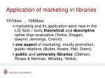 application of marketing in libraries