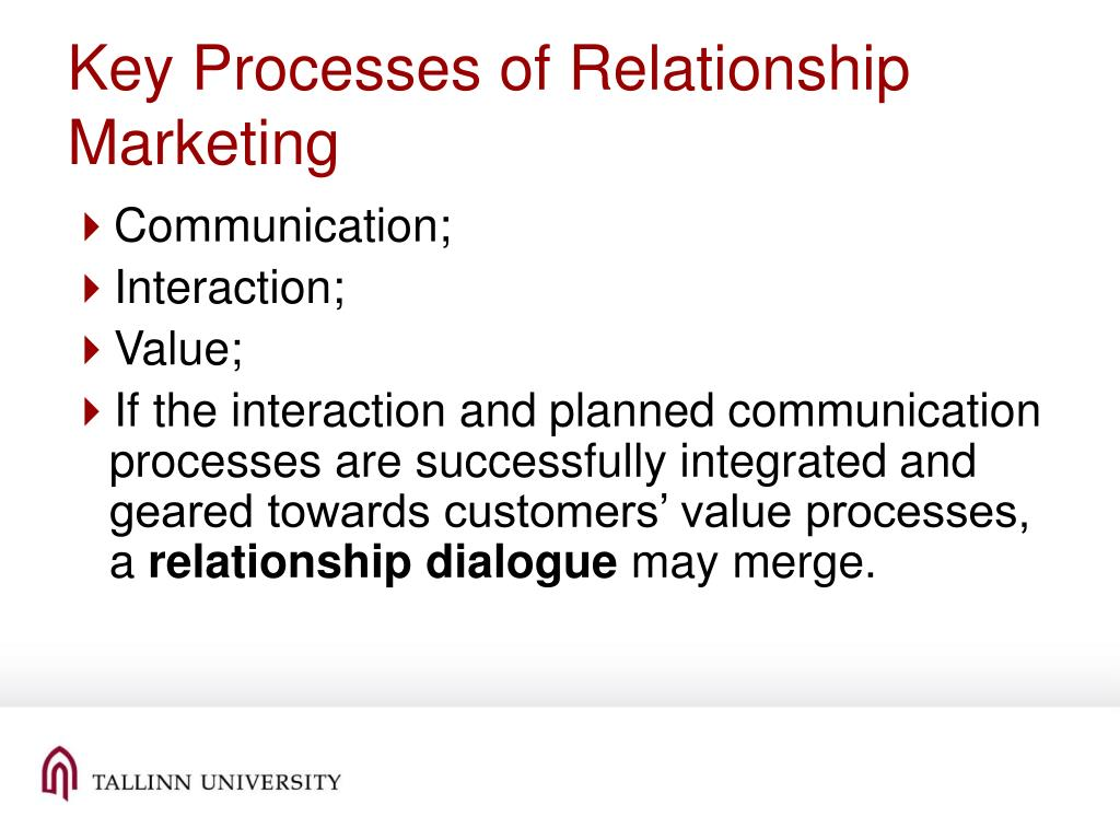 Key Processes of Relationship Marketing