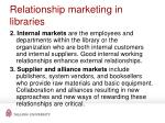 r elationship marketing in libraries