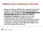 relationship marketing in libraries