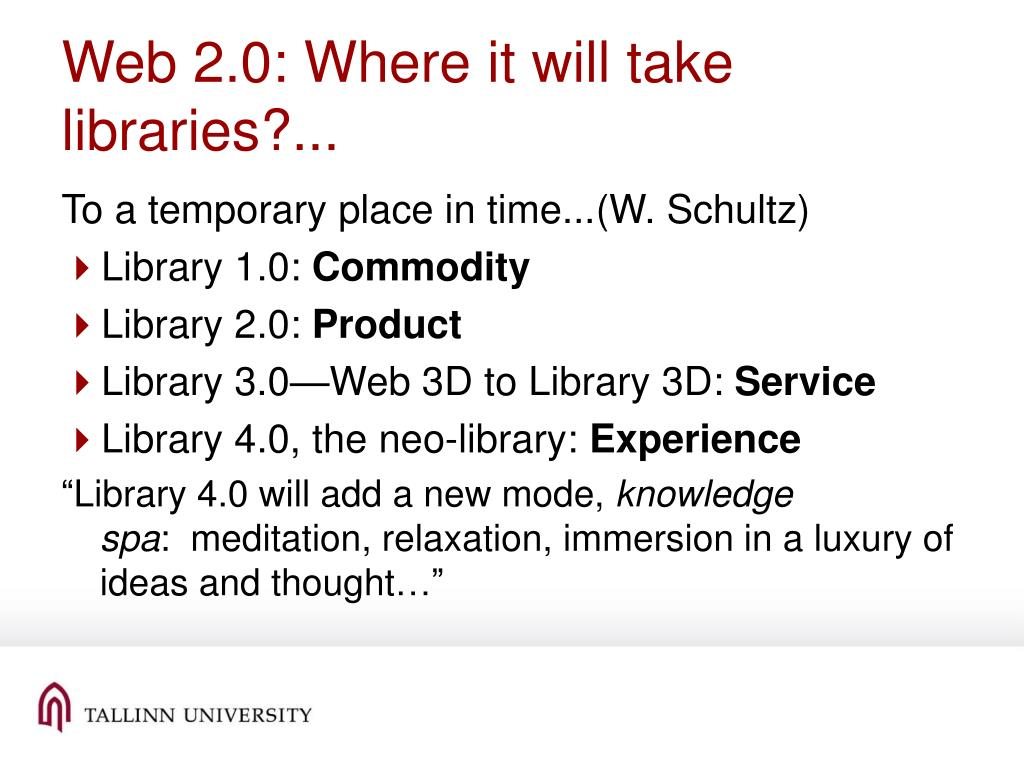 Web 2.0: Where it will take libraries?...