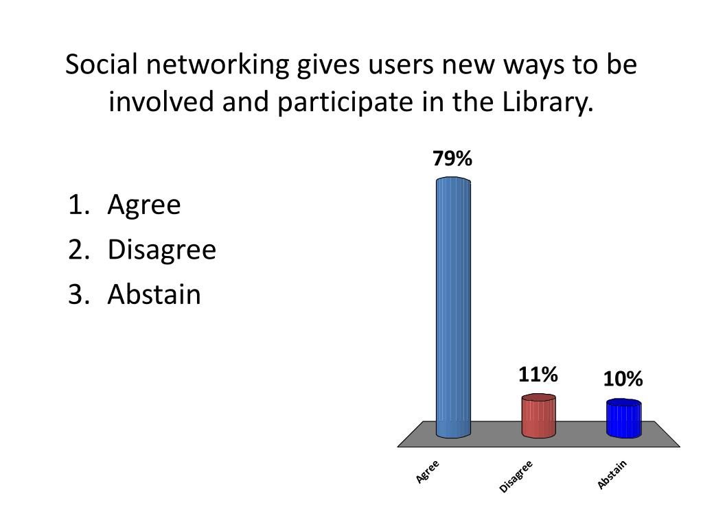 Social networking gives users new ways to be involved and participate in the Library.