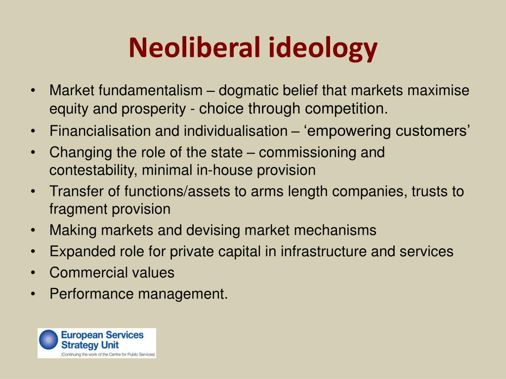 Neoliberal ideology