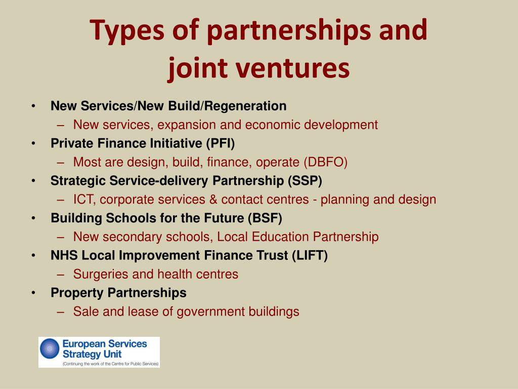 Types of partnerships and