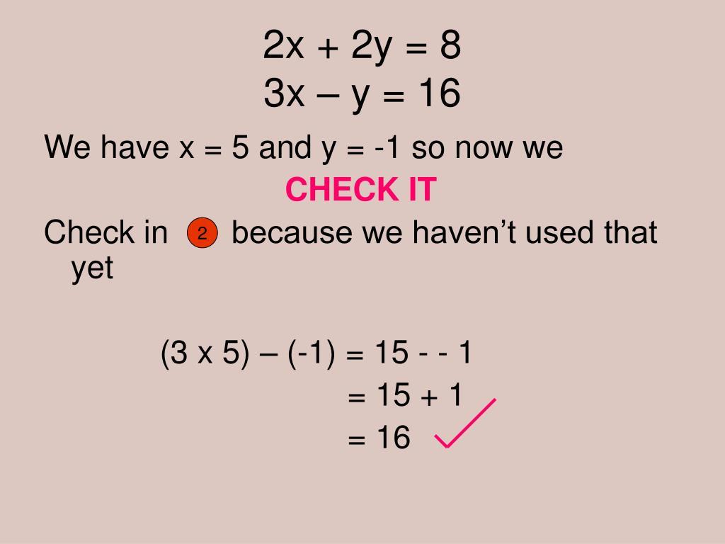 2x + 2y = 8