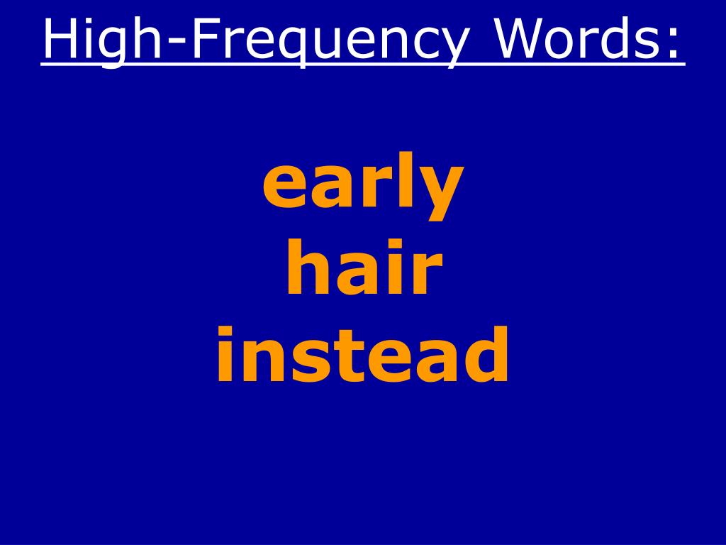 High-Frequency Words: