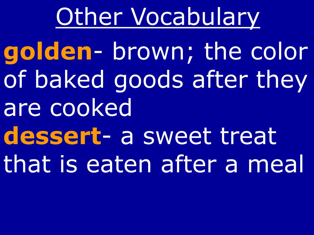 Other Vocabulary