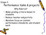 performance tasks projects