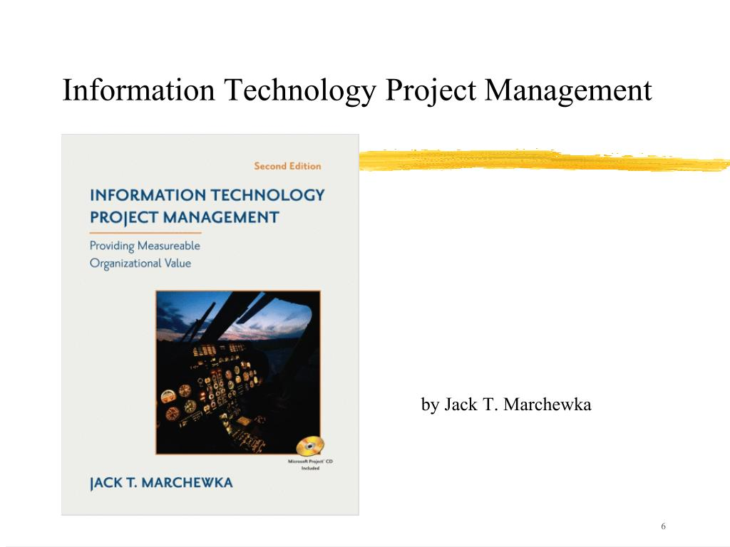 information technology project management Its400: information technology project management credit hours: 3 contact hours: this is a 3-credit course, offered in accelerated format this means that 16 weeks of.