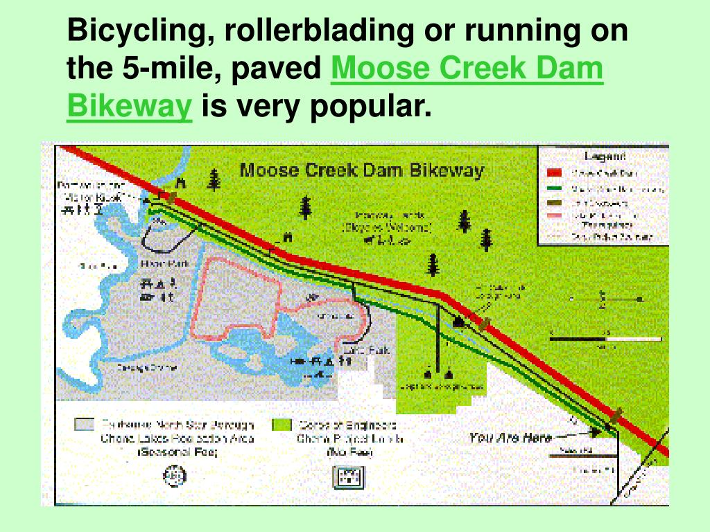 Bicycling, rollerblading or running on the 5-mile, paved