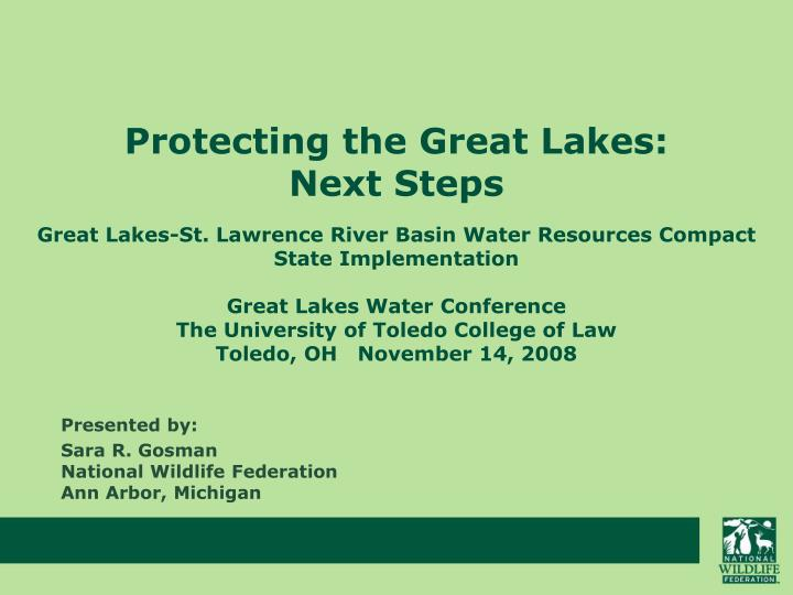 Protecting the great lakes next steps l.jpg