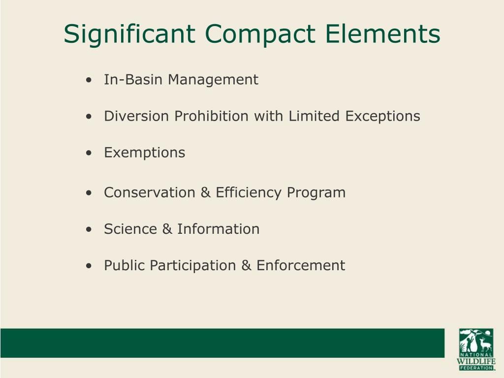 Significant Compact Elements