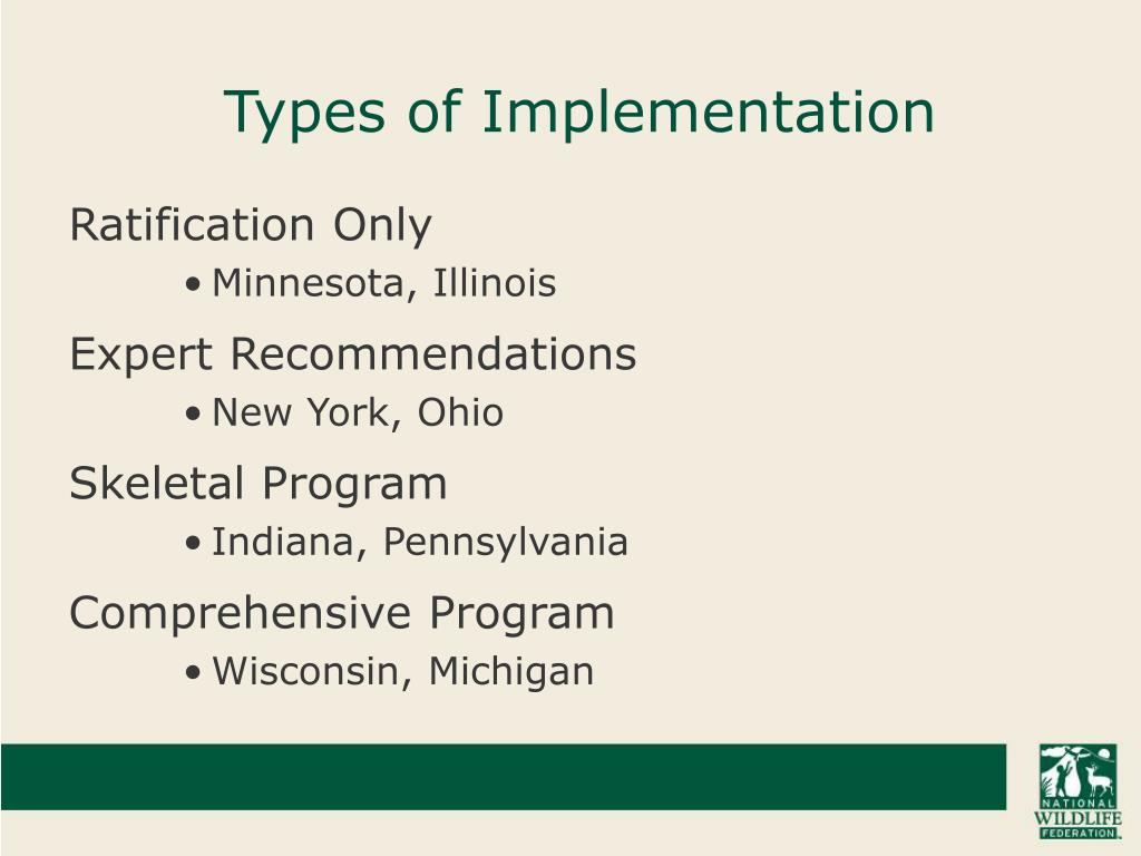 Types of Implementation