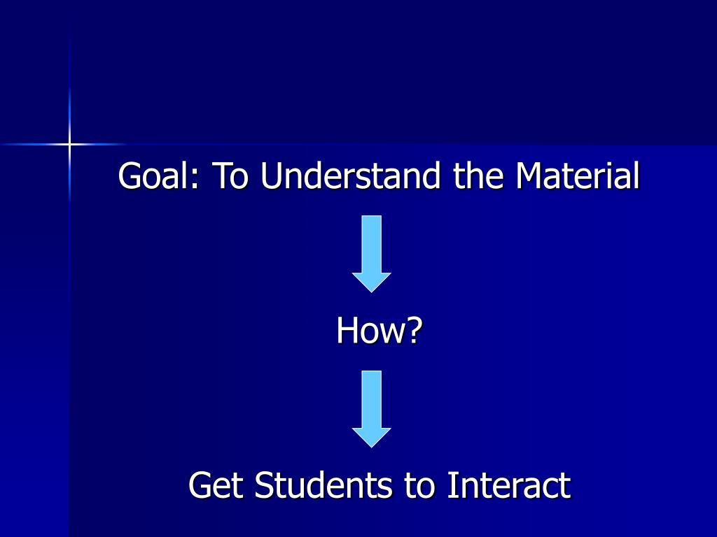 Goal: To Understand the Material