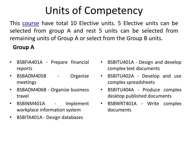 Units of competency l.jpg