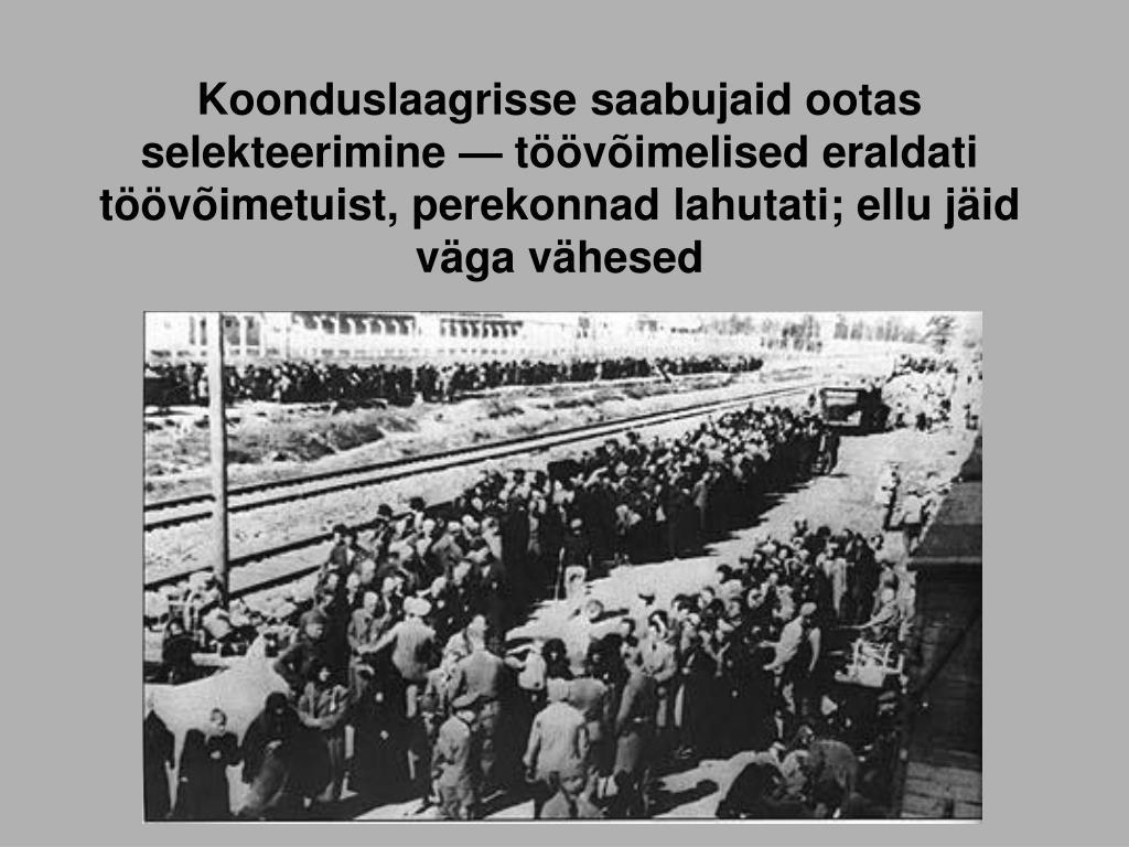 Koonduslaagrisse saabujaid ootas selekteerimine