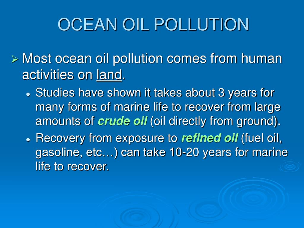 OCEAN OIL POLLUTION