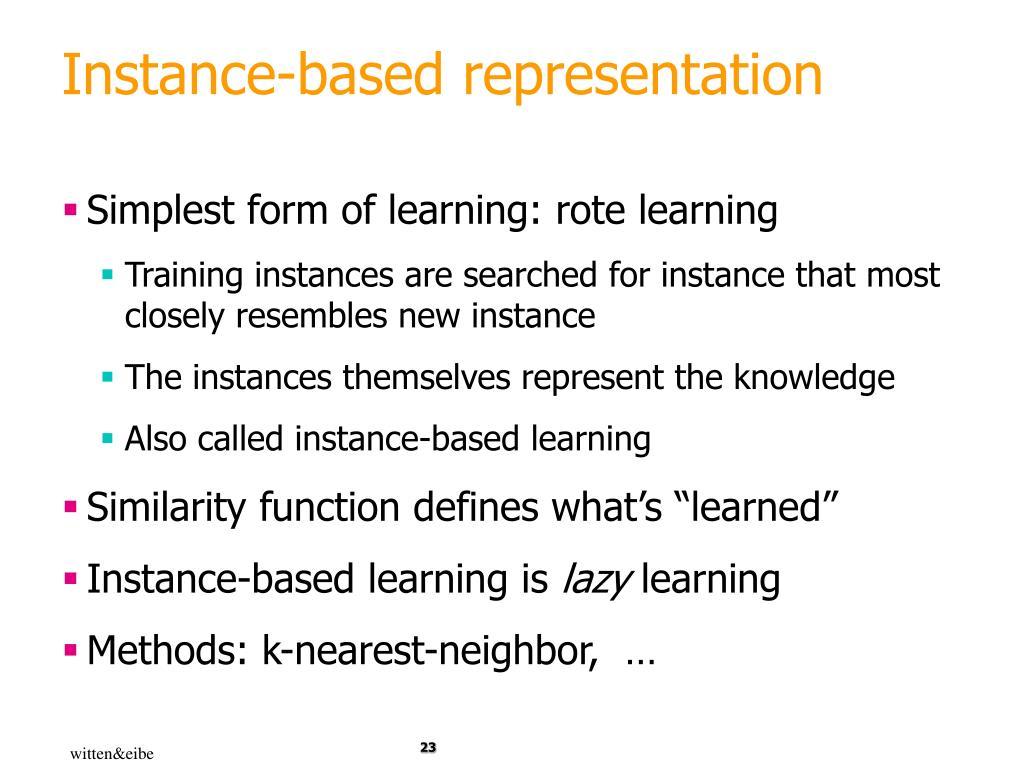 Instance-based representation