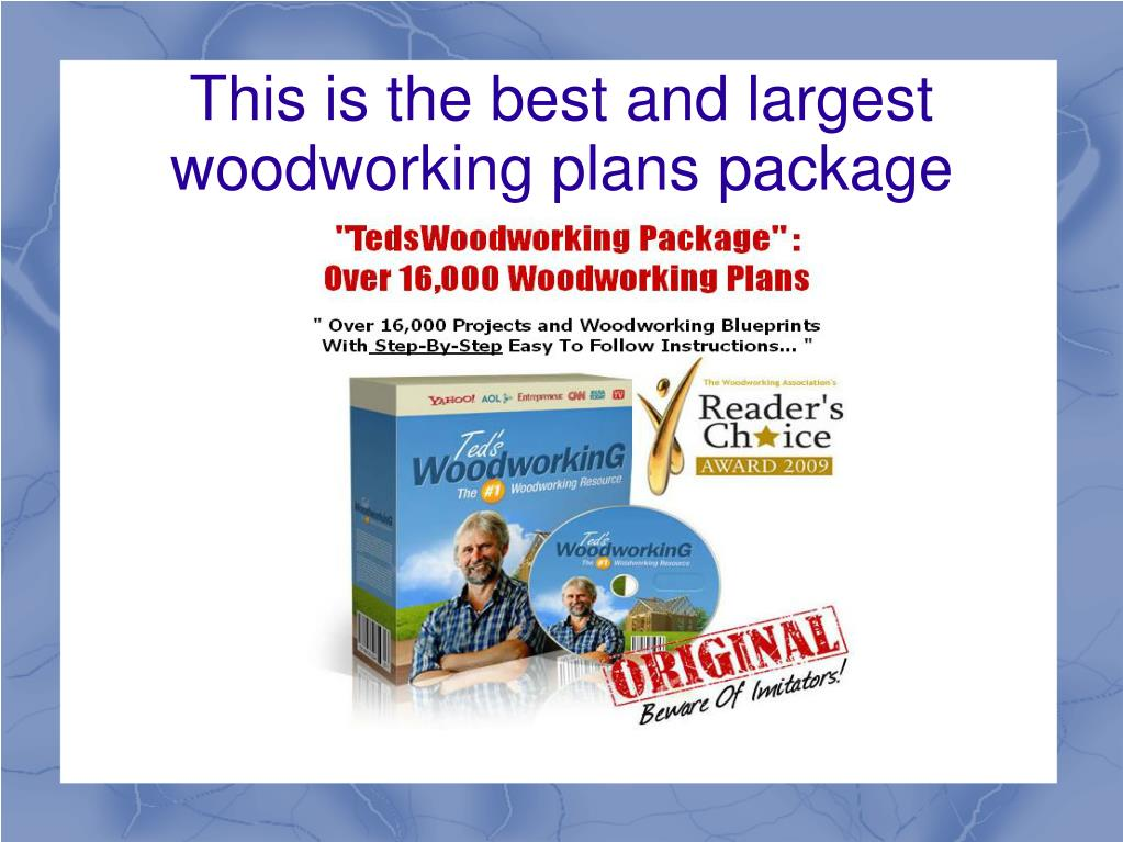 This is the best and largest woodworking plans package