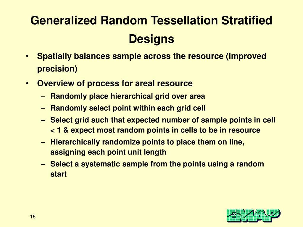 Generalized Random Tessellation Stratified Designs